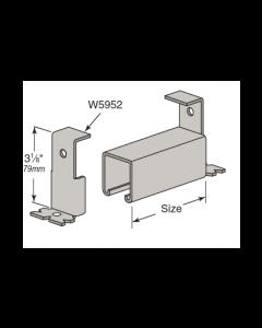"Continuous Concrete Inserts FS12158NS - 1 5/8"" x 1 5/8"" - 12 Gauge W7250 to W7252 (10 Piece Pack)"