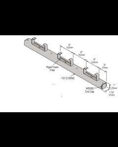 "Continuous Concrete Inserts FS12100NS - 1 5/8"" x 1"" -12 Gauge W7553 to W7570 (10 Piece Pack)"