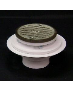 Low Profile Bolt-Down Shower Drain with Metaring