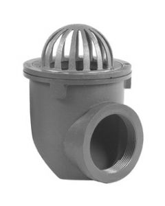 Smith 1680 Low Dome Bottom Outlet Gutter Drain
