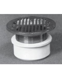 """4"""" Inside Hub Fit Adjustable General Purpose Drain with Cast Metal Tailpiece"""