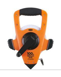 Fiberglass Measuring Tape - Open-Type Reel, Double PVC Coated Fiberglass Blade, 3X High-Speed Rewind