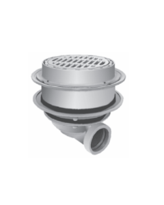 "Smith  2247 Deep Body Heavy Duty Floor Drain with 12"" Top with Tractor Grate and Solid Free Standing Sediment Bucket"
