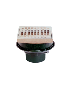 "Josam 23740 Roof Drain - with Small Sump & 8"" Square Heavy Duty Nikaloy Promenade Top"