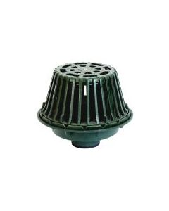 Josam 28600 Flo-Set Roof Drain - Calibrated Vane Collar, Clamp Ring & Cast Iron Dome