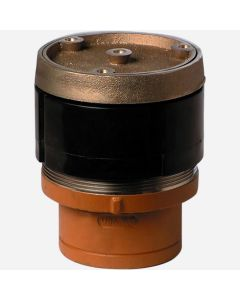 Smith 4184S Finished Floor Cleanouts - Spigot with ABS Taper Thread Plug - Adjustable Round Top with Terrazo Recess