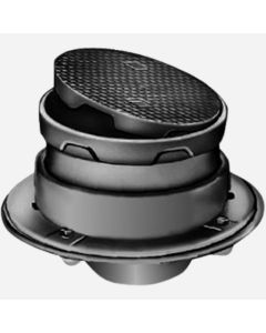 Smith 4318 Floor Cleanouts with Internal Closure Plug and Round Adjustable Cast Iron Top