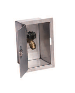 "Smith 5572, 1/2"" Inlet, Mild Climate, Anti-Siphon Sillcock and Stainless Steel Box"