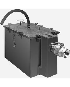 """Smith 8025GT Steel Grease Interceptors with Semi-Automatic Draw-Off - 25 GPM Flow Rate - 3"""" Inlet and Outlet Size"""