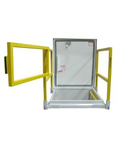 "M1 Roof Hatch with 36""x30"" Safety Rail with Gate"