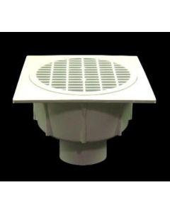 """4"""" Floor Sink With Aluminum Beehive Strainer"""
