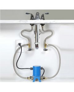 AquaMotion AMH3K-7N Stainless Steel, Single Pipe System, Under Sink Recirculation System for Hot Water Tank - No Timer