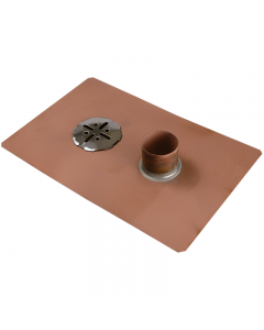 Thunderbird Copper Balcony Deck Drain with Overflow