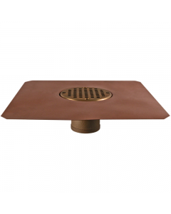 "Thunderbird Copper Bowl Deck Drain with 4"" Bowl"