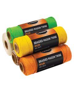 Braided Mason Twine - Colored (12 Roll Carton)