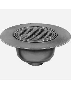 "Smith DX2566 Floor Drain with Wide Flange Body and ""Safe-Set"" Bucket"