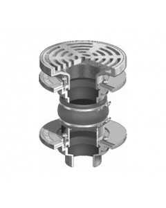 """MIFAB F1620-C Isolation Area Drain with 9"""" Round Adjustable Tractor Grate"""