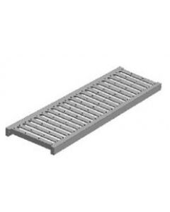 """MIFAB T1000 5"""" x 20"""" Stainless Steel Trench Drain Grate with Optional """"F"""" Angle Frame"""