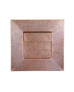 Hammered Copper Low Profile Louvered Dryer Vent / Exhaust Vent