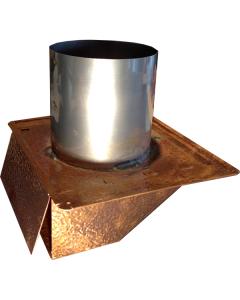 Hammered Copper Under Eave & Soffit Dryer Vent / Exhaust Vent