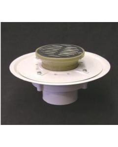 "3"" Over Pipe Fit Heavy Duty Adjustable Floor Drain with 5'' Strainer"