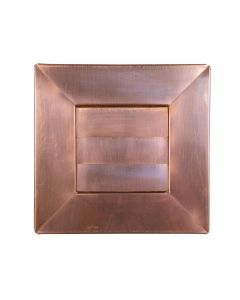 Copper Low Profile Louvered Dryer Vent / Exhaust Vent