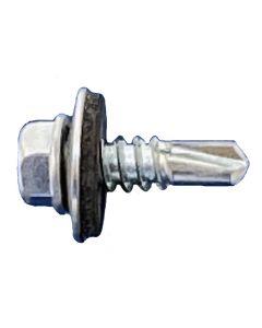 #12 Daggerz™ Hex Washer Head, Self Drill Screws with Bonded Washer, Zinc (Full Carton Quantity)
