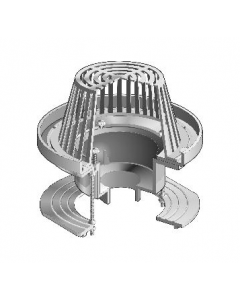 """MIFAB R1200-R Large Sump Roof Drain with External 2"""" High Water Dam"""