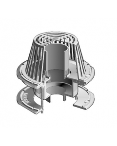 MIFAB R1200-W Large Sump Roof Drain with  Adjustable Internal Standpipe Dam