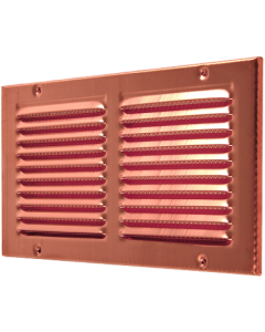 Copper Rectangular Ventilation Grid with Screen