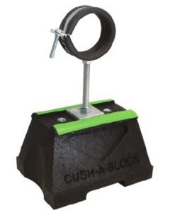 Cush-A-Block® Mini Support with Raised SPH Cush-A-Ring Clamp for Copper Tube, Steel Tube or Steel Pipe (1 Piece Pack)