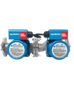 AquaMotion AM10-SFV2 Twin Turbo Stainless Steel, Single Speed Water Circulator, 4 Bolt Flange & Check Valve