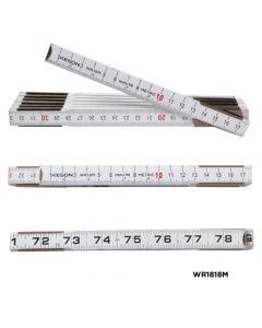 2 Meter Wood Ruler with Metric Measurements (Case of 10)
