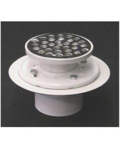 Low Profile Bolt-Down Shower Drain with Metal Tailpiece