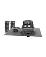 Uni-Flex™ Roof Drain with Overflow - Round Grate