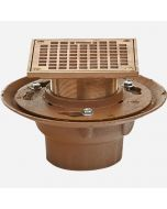 Smith 2005 (-F) Floor Drain and Adjustable Tile Flange Strainer with Round Grate