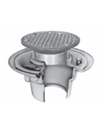 Smith 2010 (-C) Floor Drain and Adjustable Strainer with Round Reinforced Grate