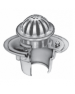 Smith 2005 (-G) Floor Drain and Adjustable Strainer with Round Low Dome Grate