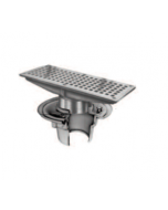 Smith 2005 (L-T) Floor Drain and Adjustable Strainer with Rectangular Grate