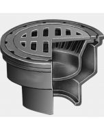 "Smith 2210 Medium Duty Floor Drain with 8 1/2"" Round Top and ""Safe Set"" Sediment Bucket"