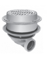 """Smith  2247 Deep Body Heavy Duty Floor Drain with 12"""" Top with Tractor Grate and Solid Free Standing Sediment Bucket"""