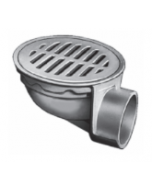"""Smith 2275 Small Area Medium Duty Floor Drain with 8 1/2"""" Round Top with Bar Grate"""