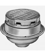 Smith 2340 Heavy Duty Floor Drain with 12'' Round Adjustable Top and Tractor Grate