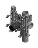 Wade 330XH Vertical, Adjustable Water Closet Support - No-Hub (750 lb. Rating)