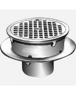 Smith 3030 Sani-Ceptor ARC Floor & Indirect Waste Drains, Shallow Receptor, Round Nickel Bronze Top