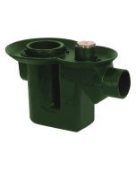 Josam 30500 Floor Drain - Cast Iron Body with Integral Trap & Flush Floor Cleanout - No-Hub Outlet