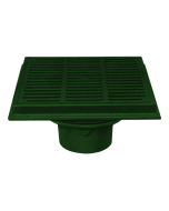 """Josam 37800 Floor Drain - 12"""" Square Top with Heavy Duty Cast Iron Grate"""