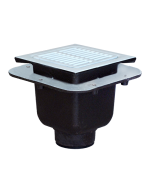 """Josam 49360A Floor Sink - 12"""" Square Top, 10"""" deep with Drainage Flange"""