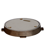"""Josam 58610 Cleanout - Round Nikaloy Wall Or Floor Access Frame & Cover, 6"""" Diameter"""