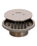 Josam 6F Strainer - Round Nikaloy with Solid Threaded Cover for Spanner Wrench